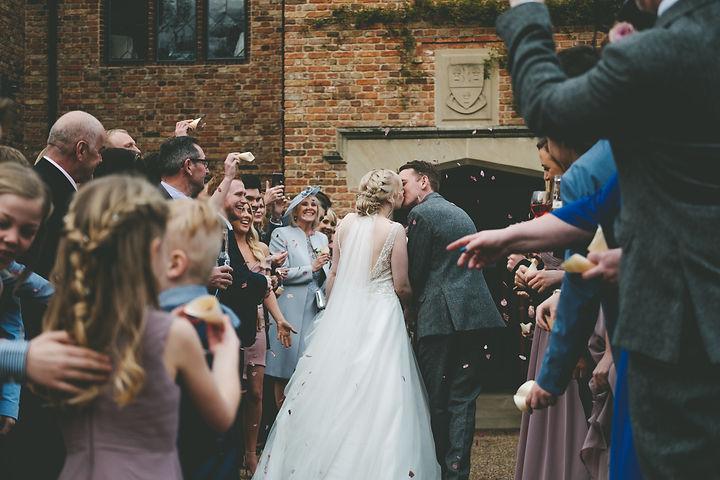 Confetti wedding day old hall ely
