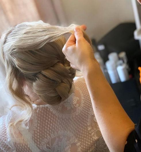 bridal hair style cambridgeshire classic