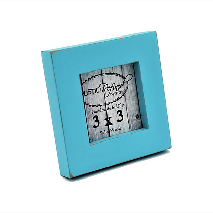 "3x3 1"" Gallery Picture Frame - Turquoise"