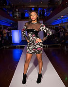 Dresses on models in a New York fashion show for Victor Hou Designs