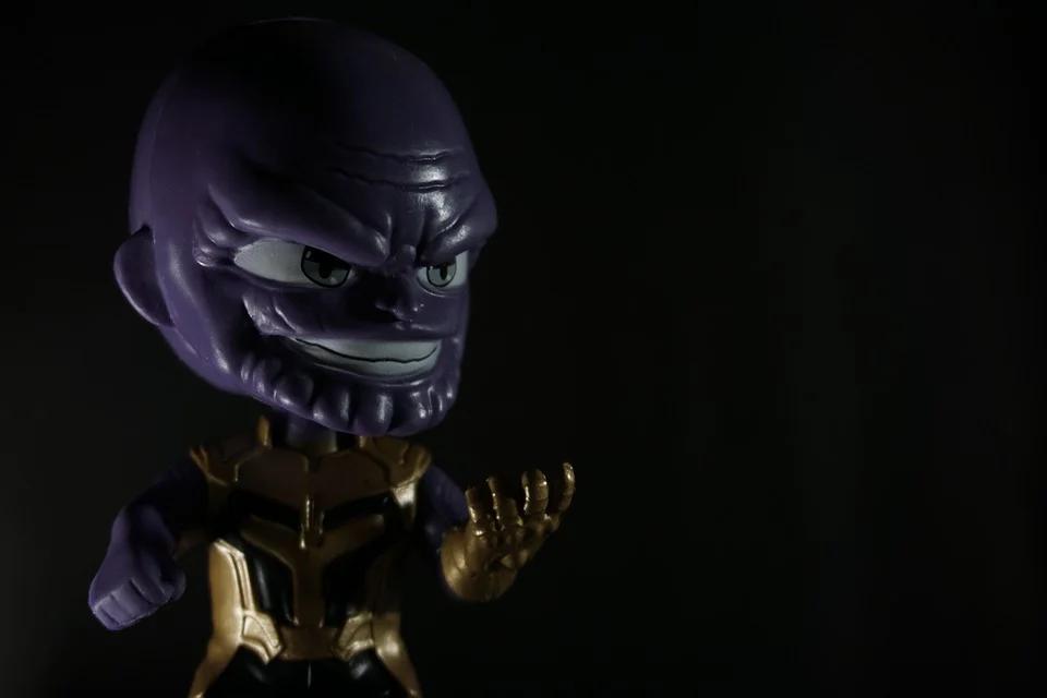 thanos villain toy marvel dark mood enemy black