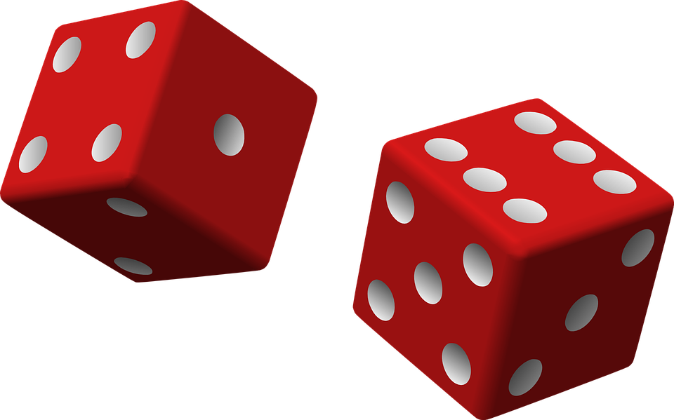 dice red two game rolling chance luck gambling