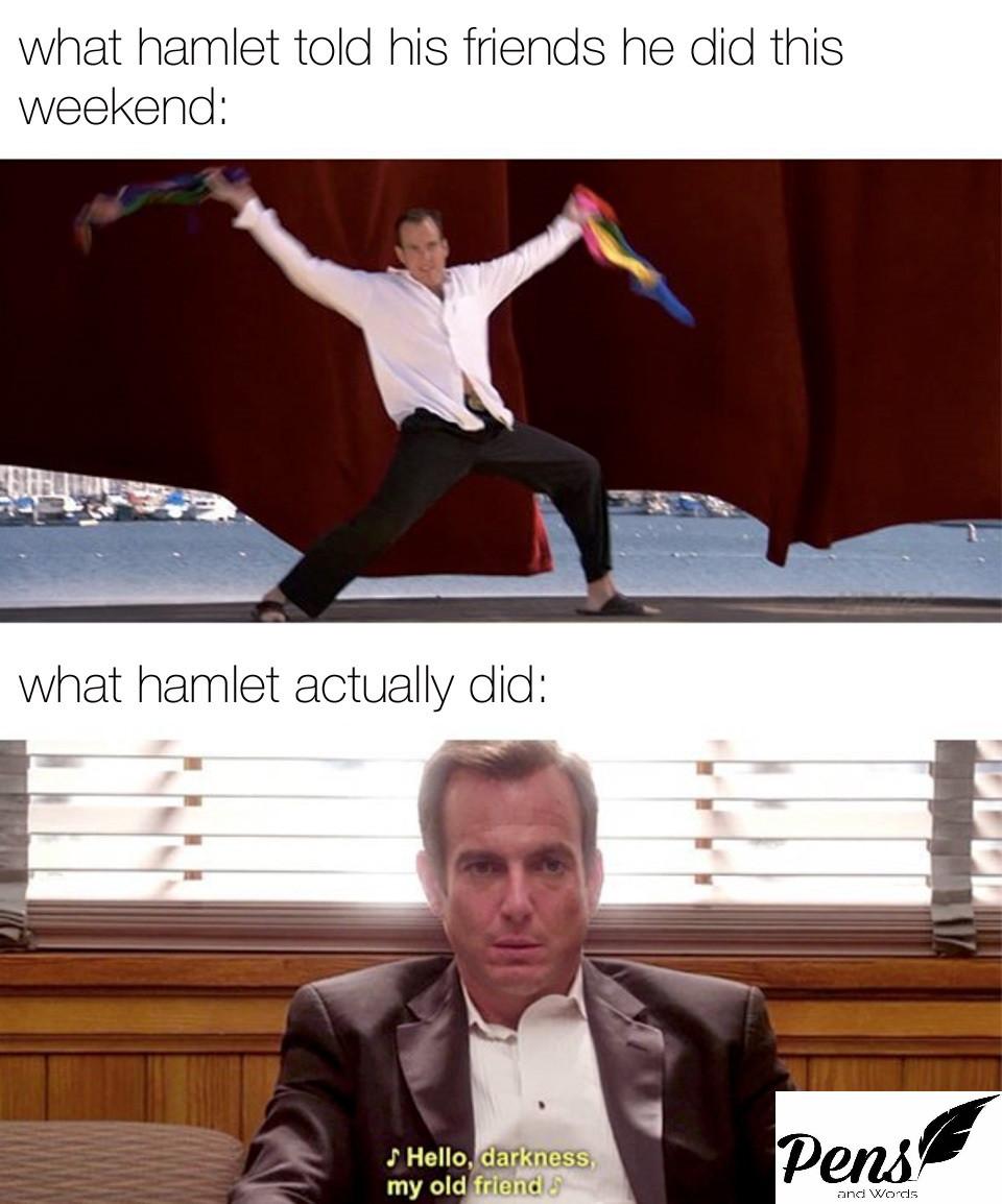 hamlet literary meme pens and words