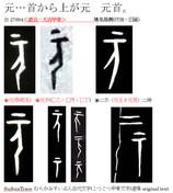 元号02 元×甲骨文字