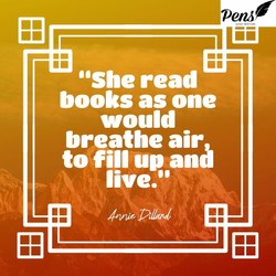 she reads books quote