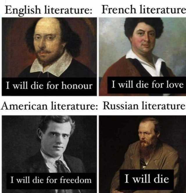literature major literary meme