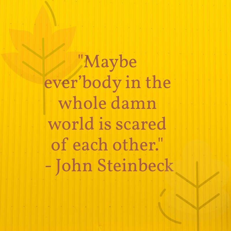 john steinbeck literary quote