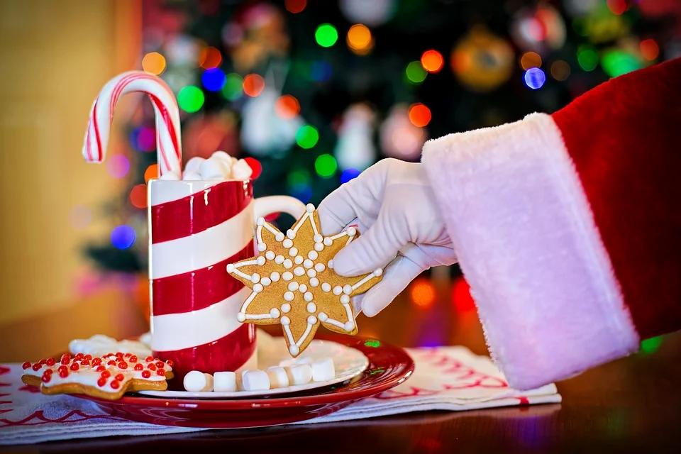 Santa Claus and cookies
