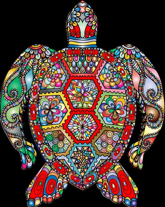 sea turtle floral