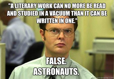 the office literary meme astronauts