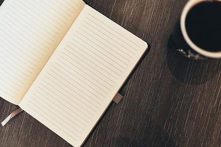 notebook paper page empty blank book coffee break