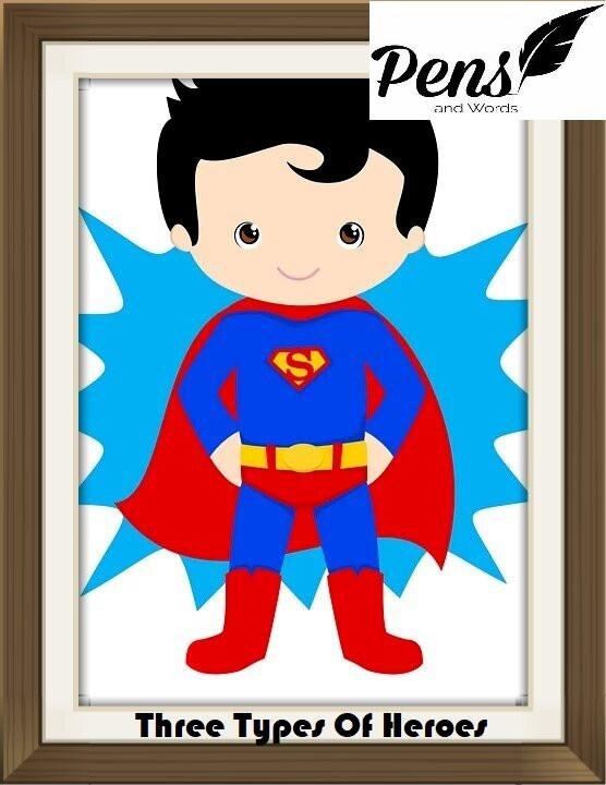 superman hero superhero kid hero pens and words