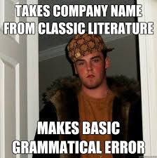 company name literary meme