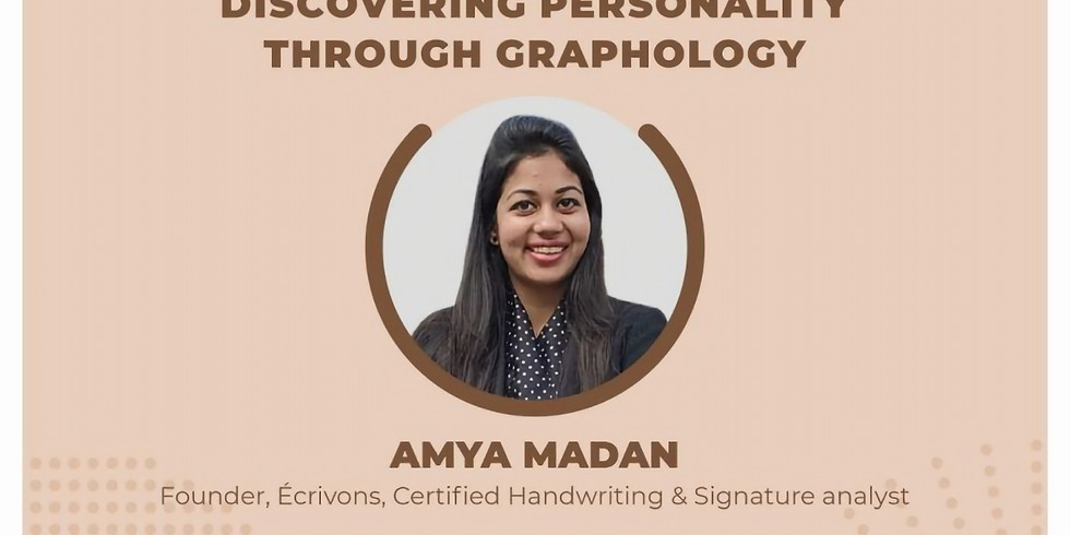 Webinar: Discovering Personality through Graphology