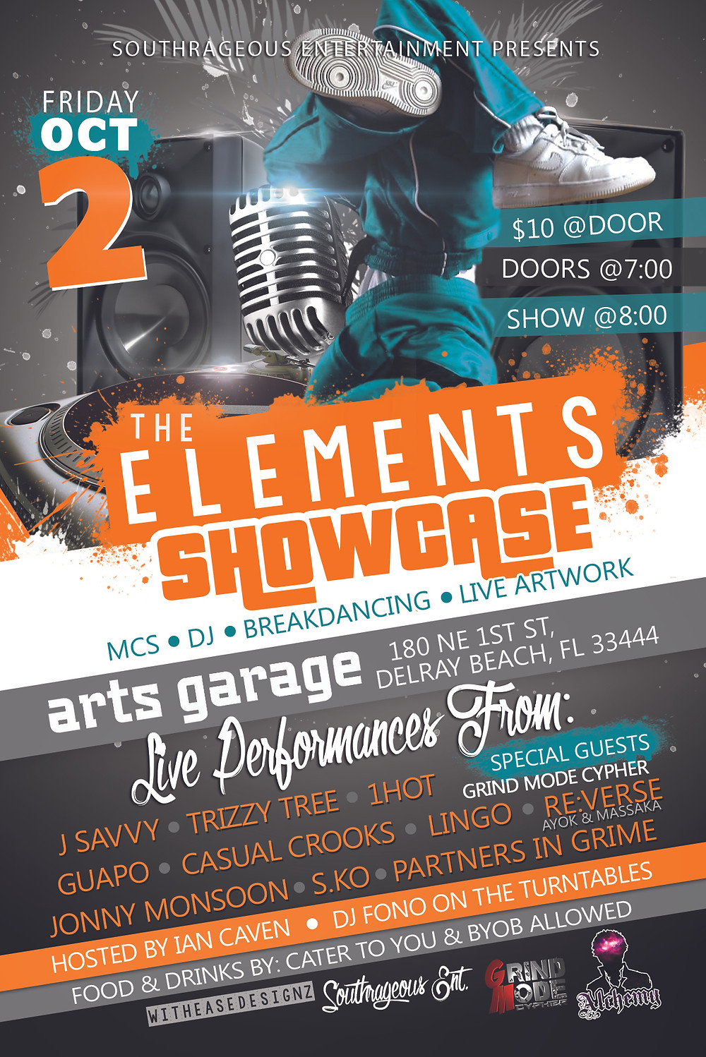 "Southrageous ENT presents ""The Elements Showcase"" at the Arts Garage!"