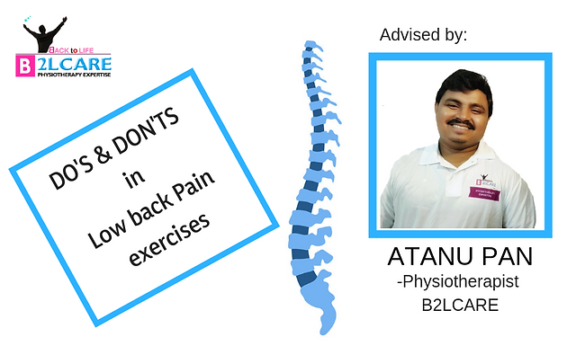 DO'S AND DON'TS IN LOW BACK PAIN