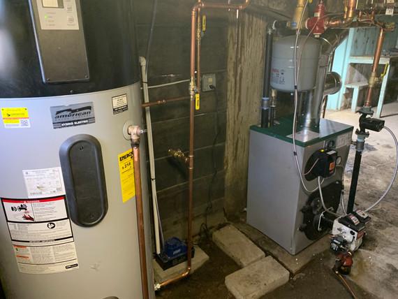 Oil Boiler and Hybrid-Heat Pump Water Heater