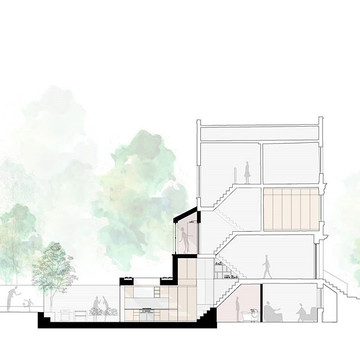 Long section through Family Townhouse