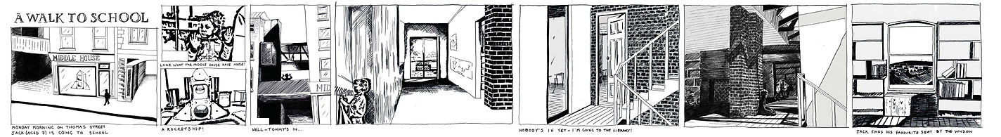 Anthro Architecture - Comic Strip of School / House