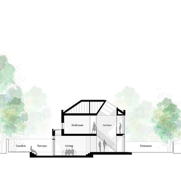 Cross section through our Villa 9010