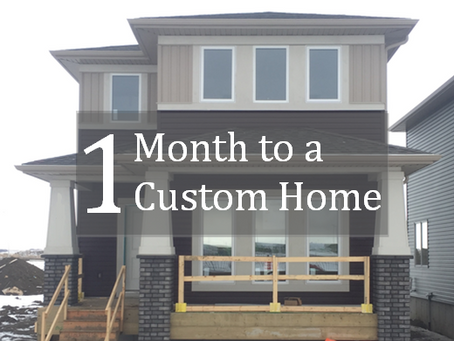 "Week one of a ""One Month to a Custom Home"" with Touchstone"