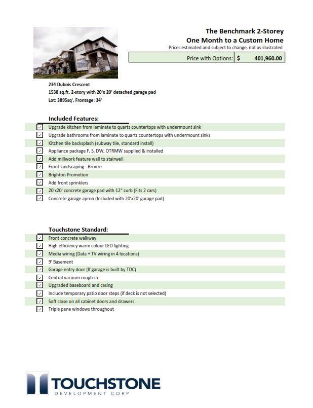 234 - Price sheet