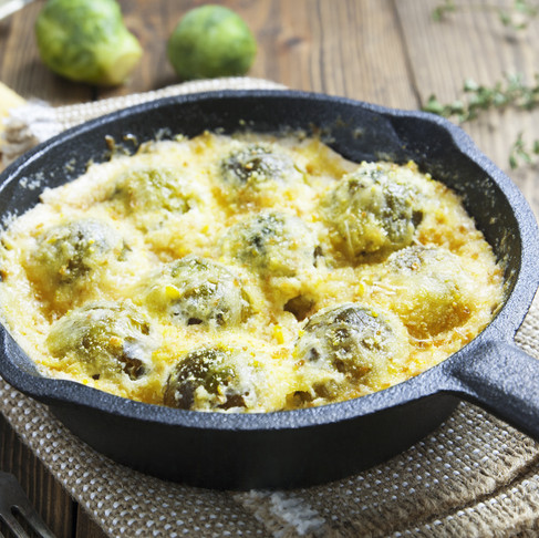 Braised Brussels Sprout Gratin