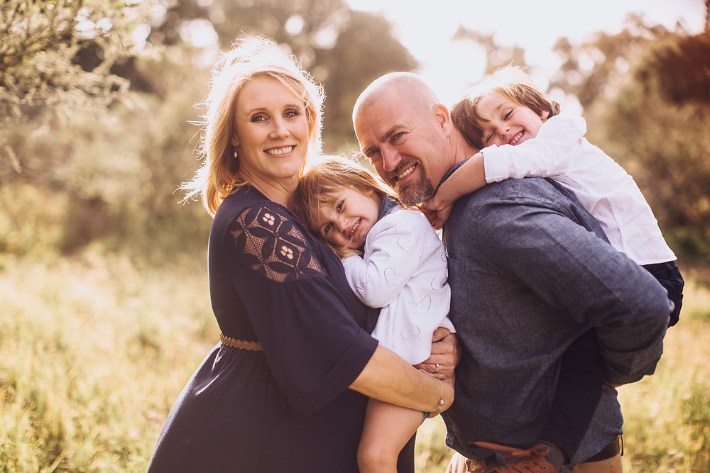 Dare 2 Dream Farms' Megan and Jeremy Raff with two of their three children, Zoe and Wyatt.
