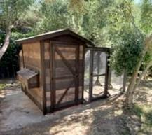 Rustic Lodge with 10'x10' Run