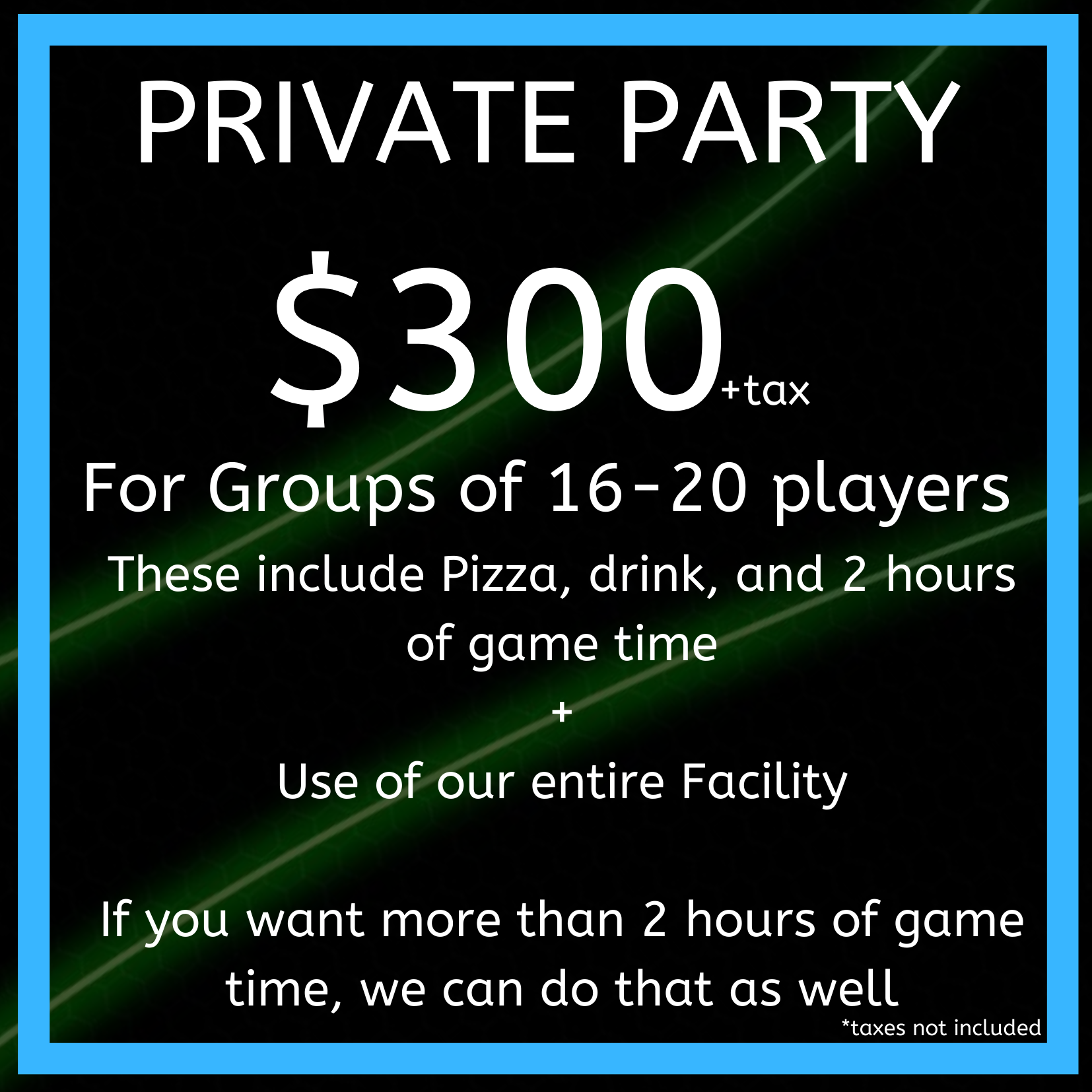 Private Party Rate #2