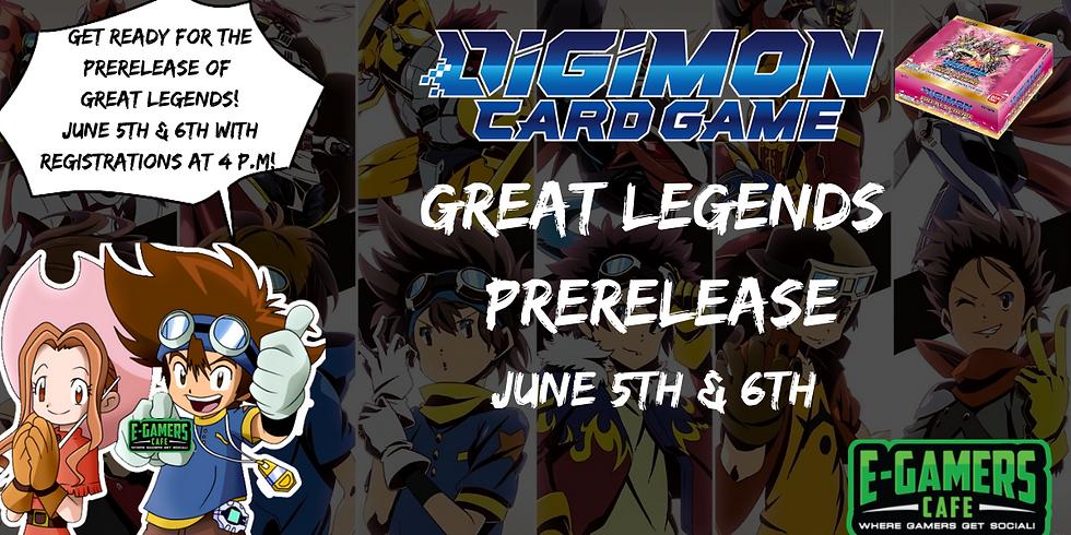 Digimon TCG Great Legends Prerelease