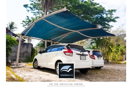 Shades' standard design car park shade structure