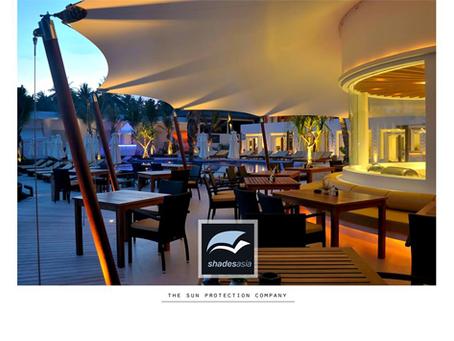 Custom-designed canopy at Theracha resort on beautiful Ko Racha, just off Phuket Island.