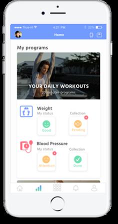 App mockup example on Iphone