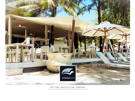 Our canopy-style awning recently installed at Phuket's world famous #catchbeachclub.