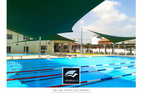 Our shade solution for Vientiane International School in Laos.