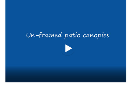 Un-framed patio canopies