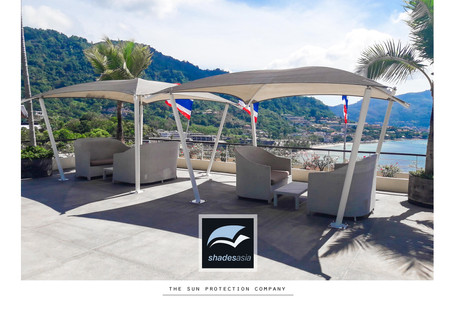 Free-standing shade structures for gardens, patios, restaurants & resorts.