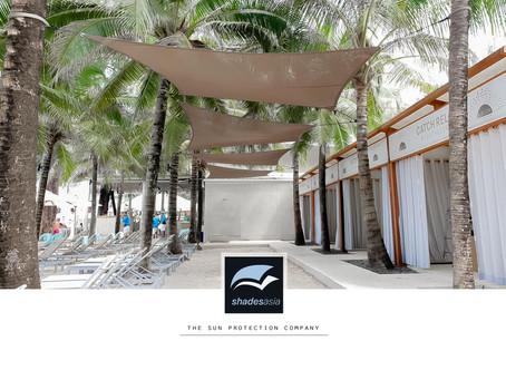 Catch Beach Club's Shade sails