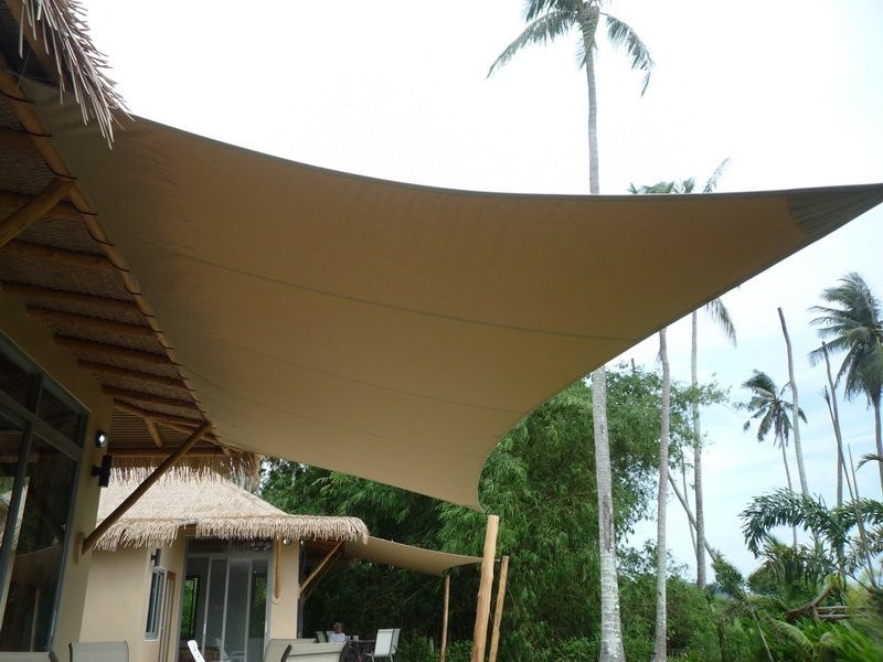 Sunbrella acrylic tensioned fabric awning