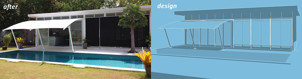 Pool House before & after 2