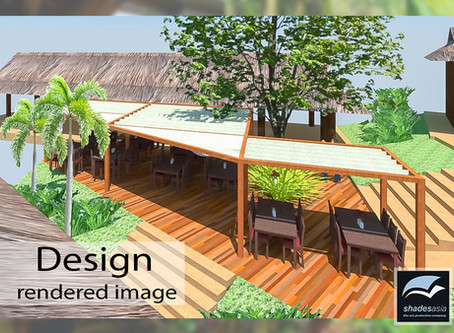 The design and installation of a timber pergola with incorporated retractable fabric roof panels