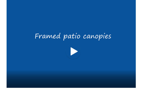 Framed patio canopies