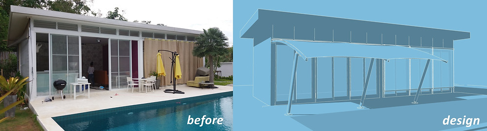 Pool House before & design