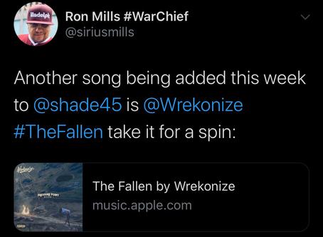 """""""The Fallen"""" added to rotation on Shade 45!!!"""