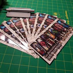 Printed slap stickers