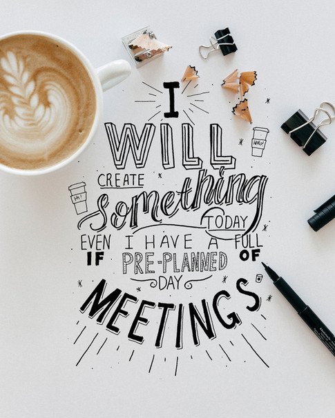 Goodtype Tuesday: I Will Create Something Today Even If...