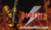 Bonfire logo vinyl sticker.