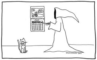 Death does keep a calendar