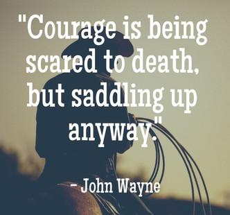 When courage wins over common sense